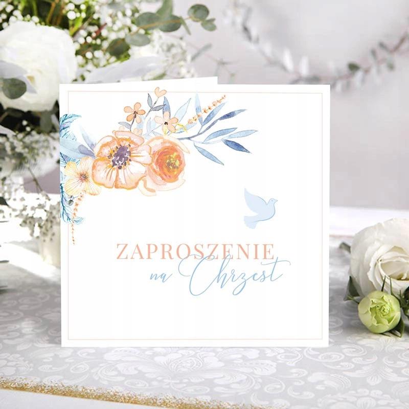 Zaproszenia Na Chrzest Dziewczynka Chlopiec Boho Place Card Holders Place Cards Cards