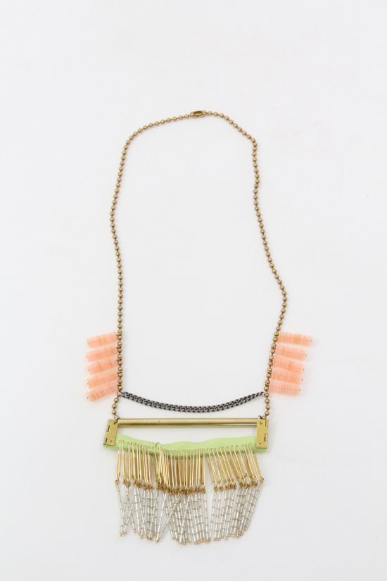 Michelle Hur | Collaged Bar Necklace