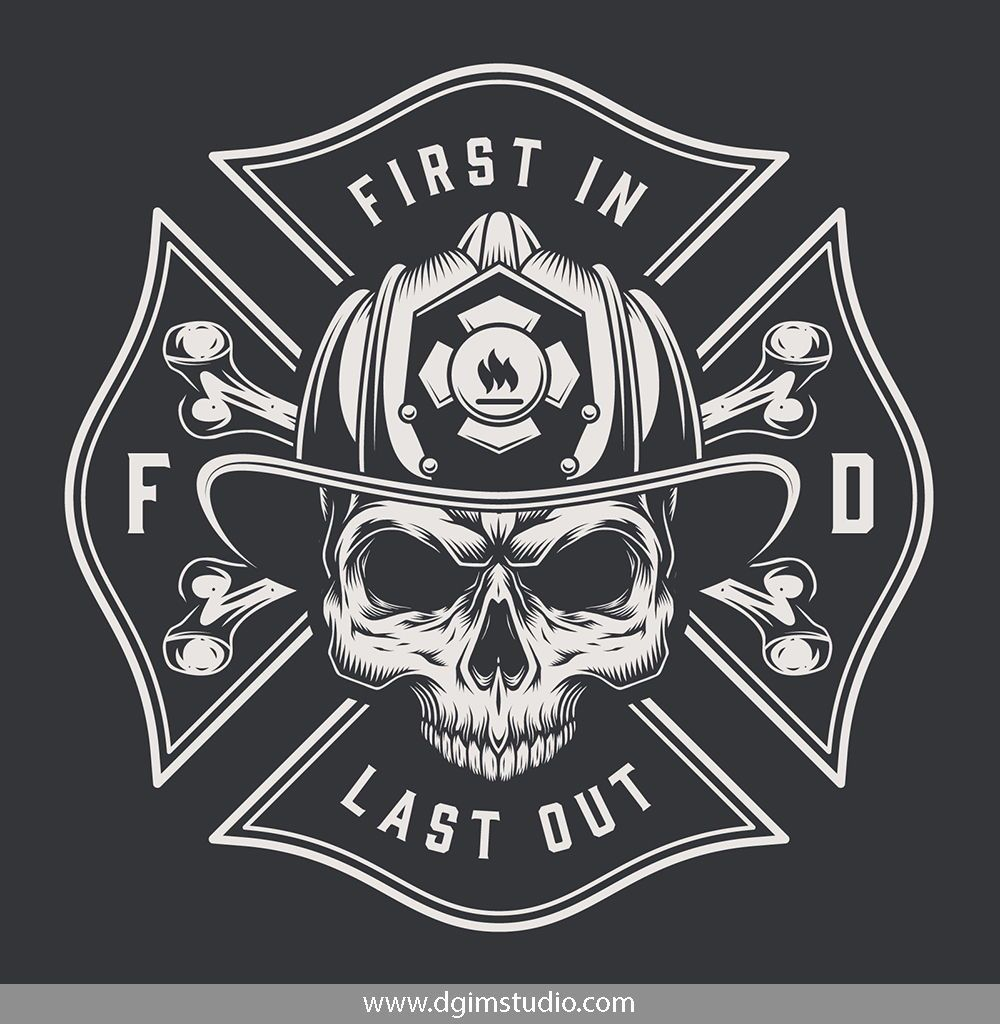 Vintage Firefighter Designs Set Fire fighter tattoos
