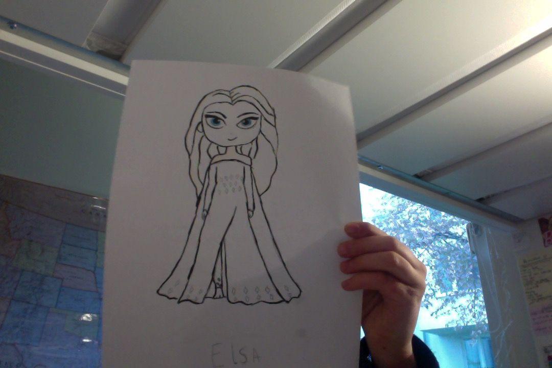 Elsa Frozen 2 Draw So Cute Link Below How To Draw Elsa Cute Drawings Disney Frozen