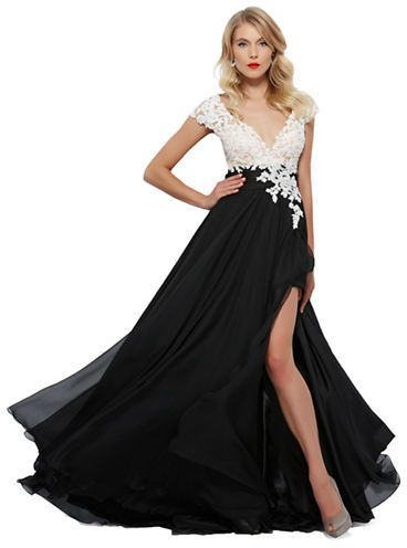bc4697c8f917 Mac Duggal Floral-Bodice A-Line Gown on shopstyle.com | Wedding ...