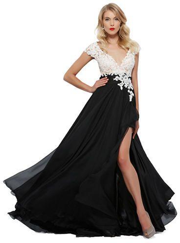Mac Duggal Floral Bodice A Line Gown On Shopstylecom Wedding