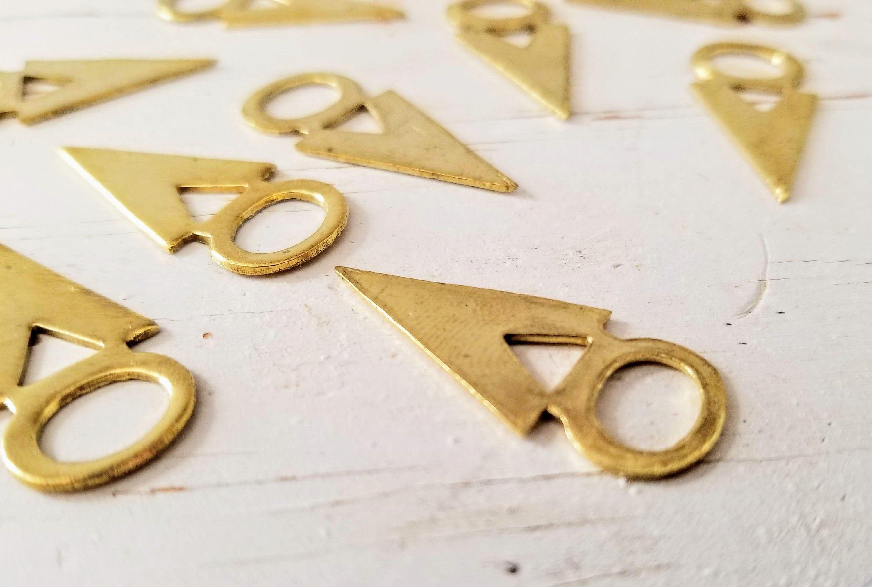 Brass Tanfolk Figure Blanks/Gold Triangle Blanks/Gold Taureg