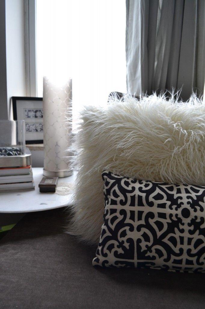Faux Fur Fuzzy Pillow Buy Bedroom Decor Living Room
