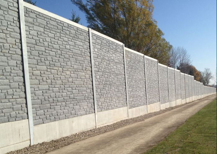 Noise Barrier \ Retaining Wall Project Gallery Design Concrete - concrete wall design example