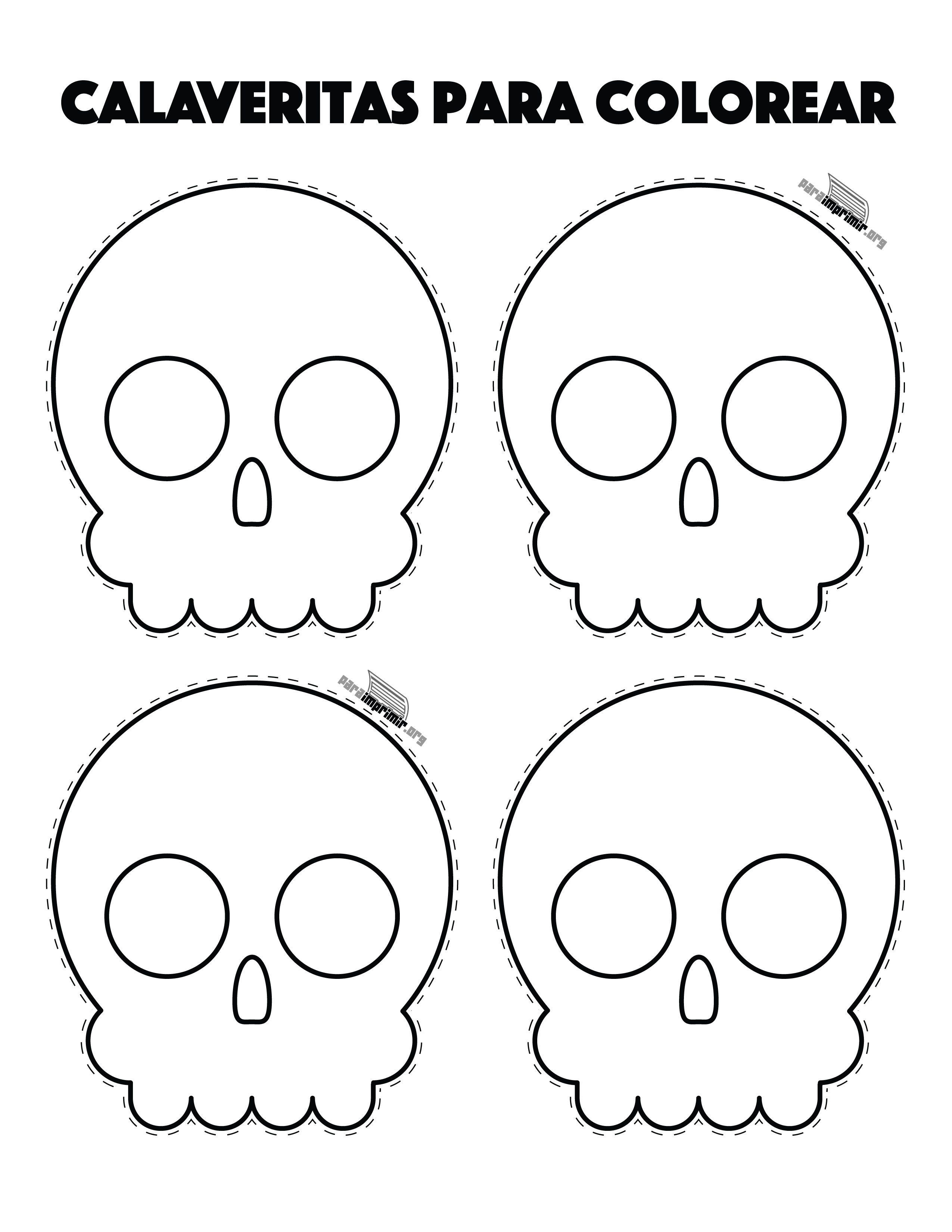 Resultado De Imagen Para Calaveras Dia De Muertos Para Colorear Cosas De Halloween Calaveras Dia De Muertos Decoracion De Halloween