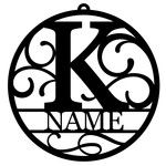 personalized tag ornament - k