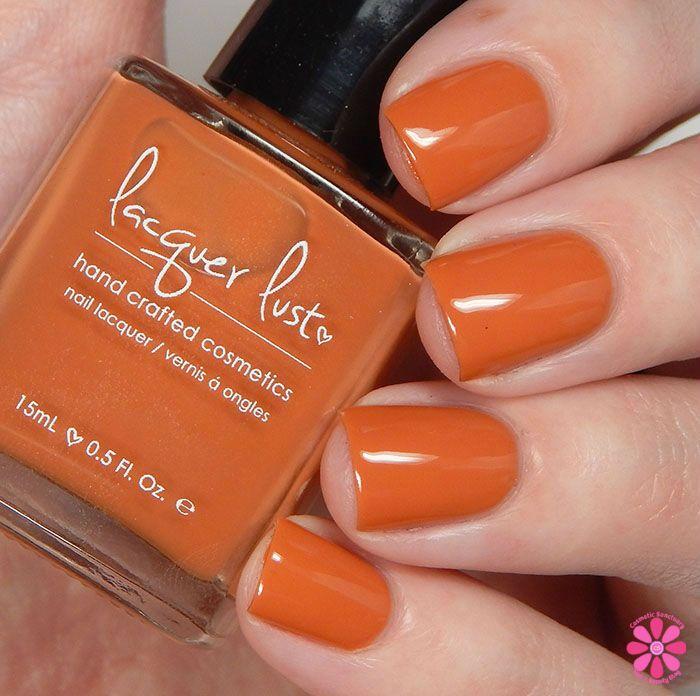 Pumpkin-Spice Nail Polish Color.