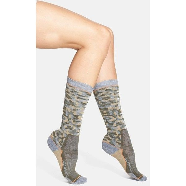 1a6aefc39 Women s Wigwam  Camo Pro  Crew Socks ( 17) ❤ liked on Polyvore featuring