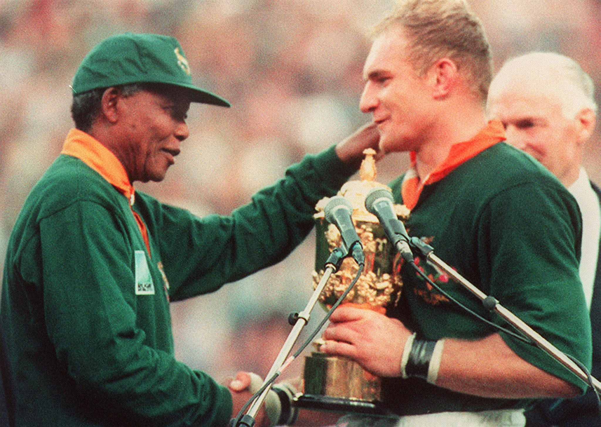 This Day In History Jun 24 1995 Mandela Cheers On South African Rugby Team South Africa Rugby Springbok Rugby Rugby World Cup