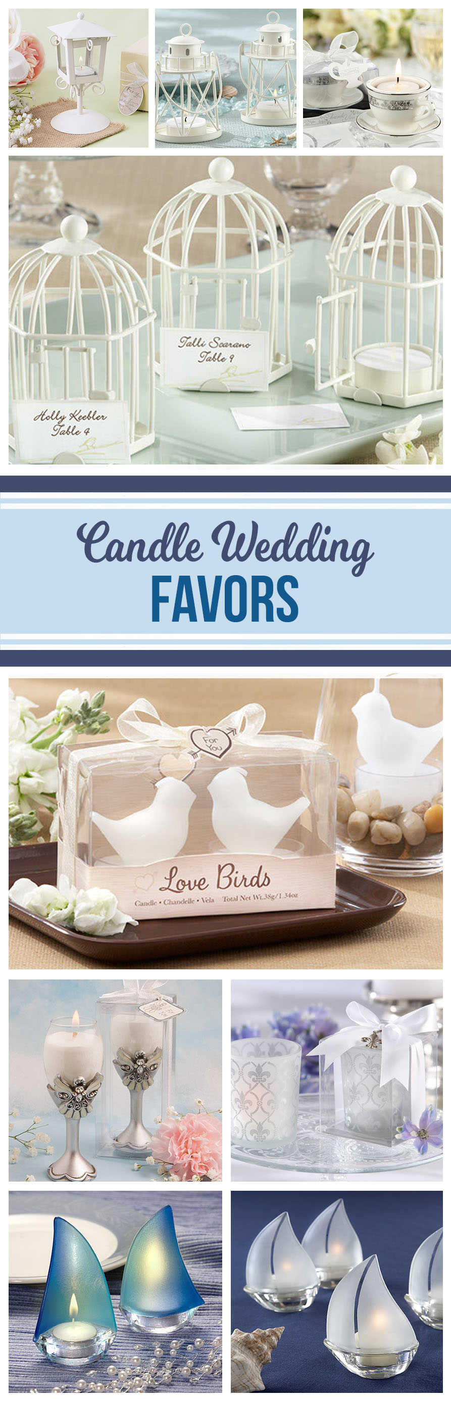 So many creative ways to decorate a table or give unique (and useful) wedding favors or bridal shower favors