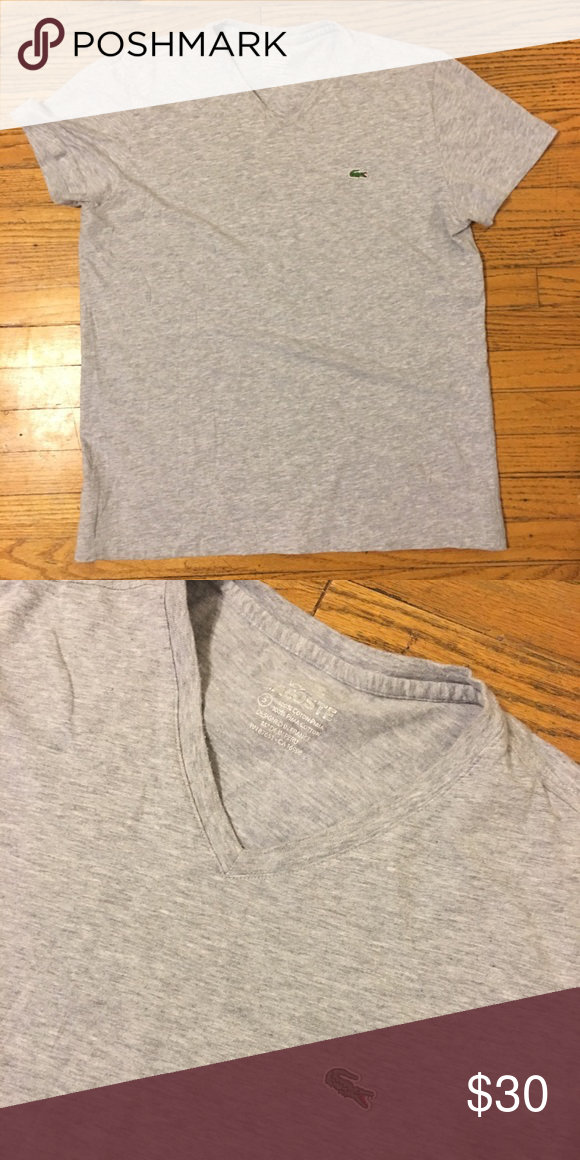 Gray Lacoste Tee - S Gray Lacoste Tee. Men's size small. Sooooo soft. Great fit. Lacoste Shirts Tees - Short Sleeve