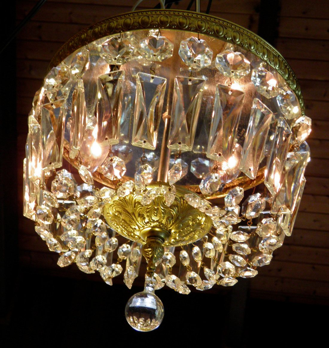 Vintage Crystal Chandelier Lighting Flush Mount Light by lightlady