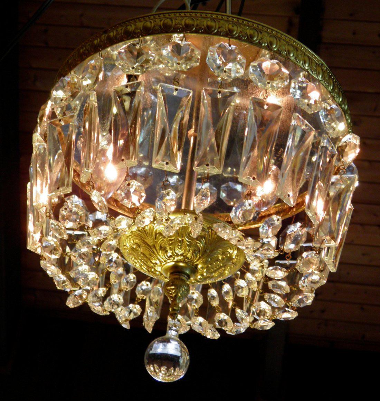 Vintage chandelier flush mount italian chandelier crystal n brass vintage chandelier flush mount italian chandelier crystal n brass chandelier a big fantastic classic ready arubaitofo Choice Image