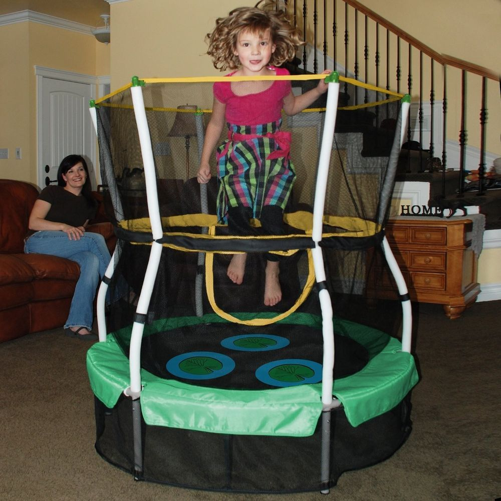 """Lily Pad Adventure Bouncer 40"""" Trampoline Safety Enclosure"""