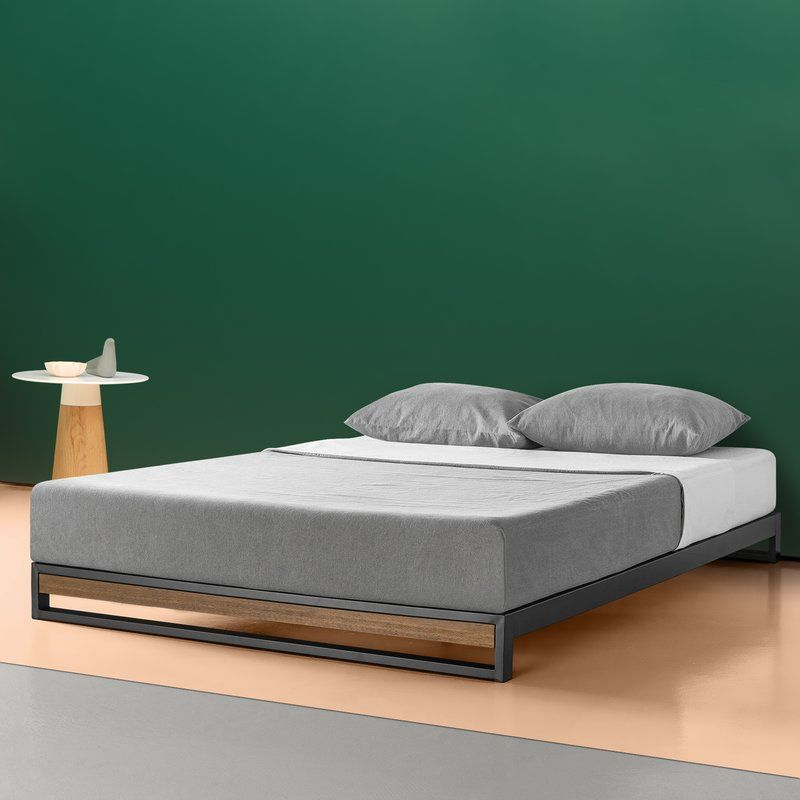 Zipcode Design Permelia Metal And Wood Platform Bed Reviews