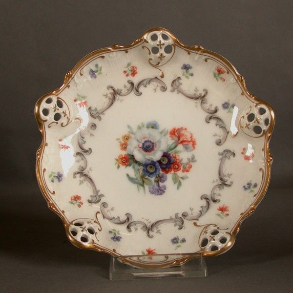 zwei porzellan teller rosenthal charlotte moliere 1901 192 porcelaine porzellan. Black Bedroom Furniture Sets. Home Design Ideas