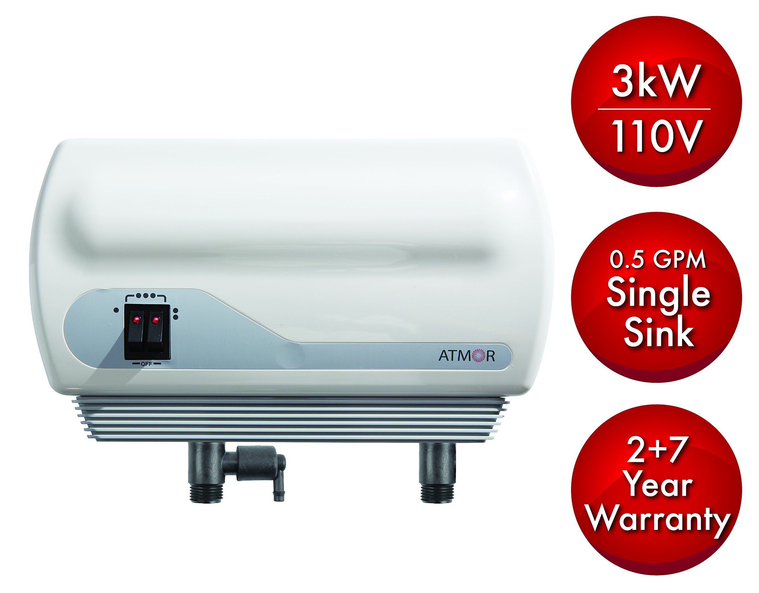 Atmor At 900 03 Single Sink 3kw 110v 0 5 Gpm Point Of Use Tankless Electric Water Heater And In 2020 Water Heater Tankless Water Heater Tankless Water Heater Electric