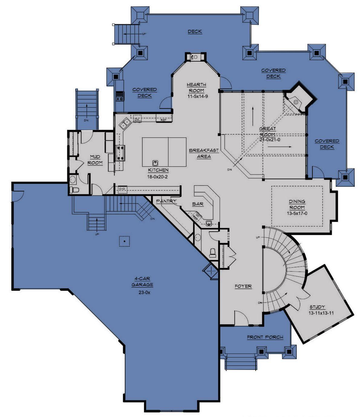 House Plan 5631 00036 Lake Front Plan 6 963 Square Feet 5 Bedrooms 5 5 Bathrooms Lake House Plans House Plans Lake House