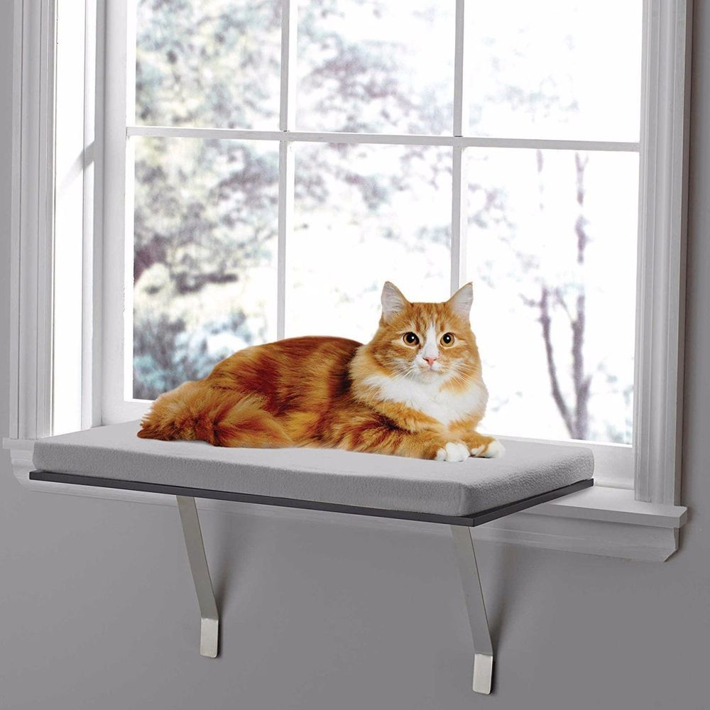 Deluxe Pet Cat Window Perch Seat Bed Kitty Shelf Mounted Hanging