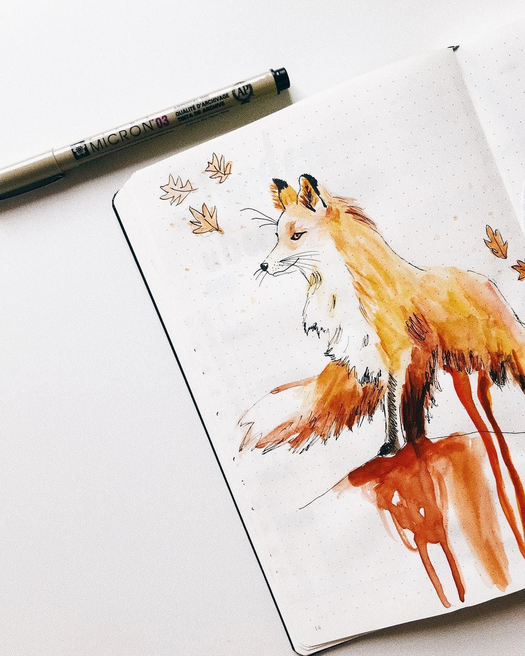 45 foxy and sly fox themed bullet journal ideas my inner creative discoverbulletjournal