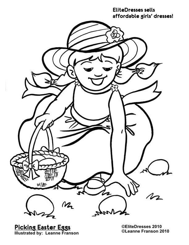 EliteDresses Sells Affordable Girls Dresses!!! Easter Coloring Pages ...