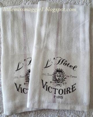LittleMissMaggie: Tea Towels Using TAP or Transfer Artist Paper by Lesley Riley