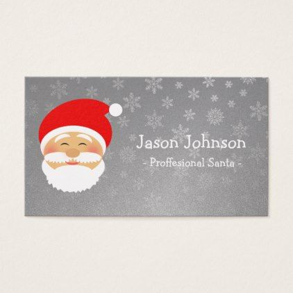 Santa silver professional christmas elegant simple business card santa silver professional christmas elegant simple business card elegant gifts gift ideas custom presents colourmoves