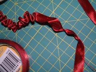 Ruched ribbon tutorial