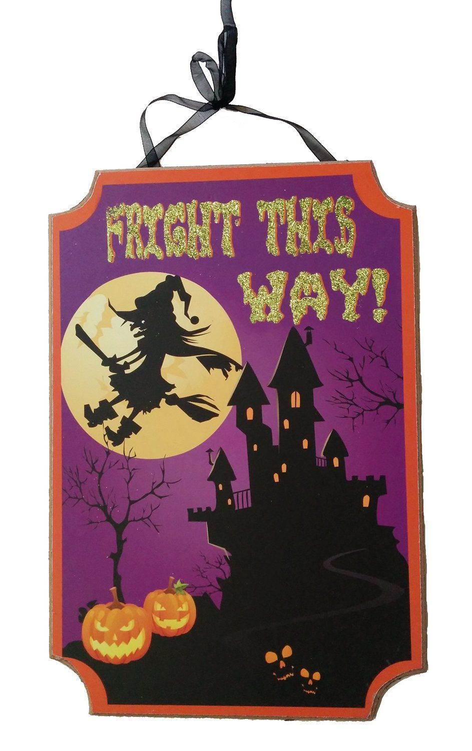 This adorable Halloween sign will lead the way for your trick or - Office Halloween Decor