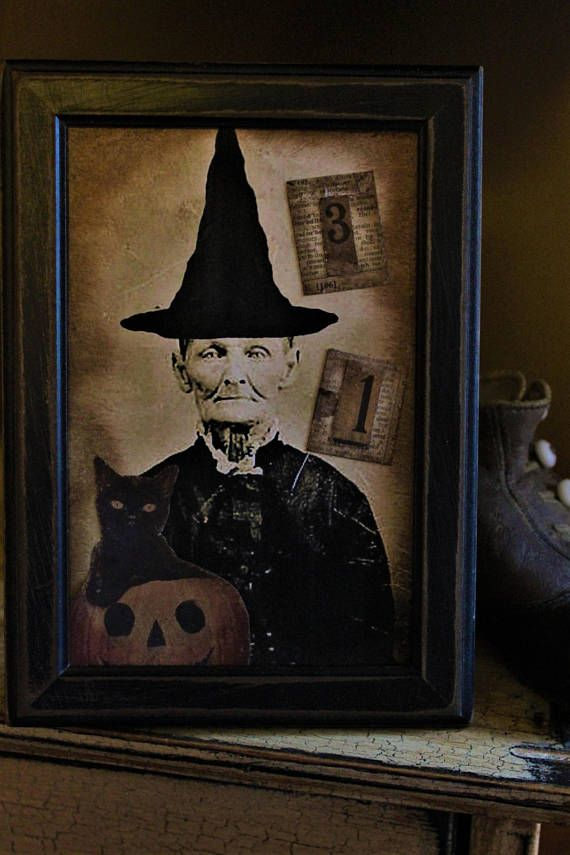 Old Witch Frame Pinterest Fun halloween decorations, Witches and - halloween decorations witch