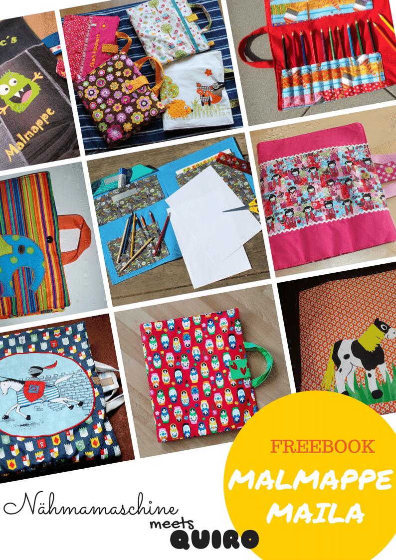Nähmamaschine: Freebook Malmappe | Schnittmuster | Pinterest | Nähen ...