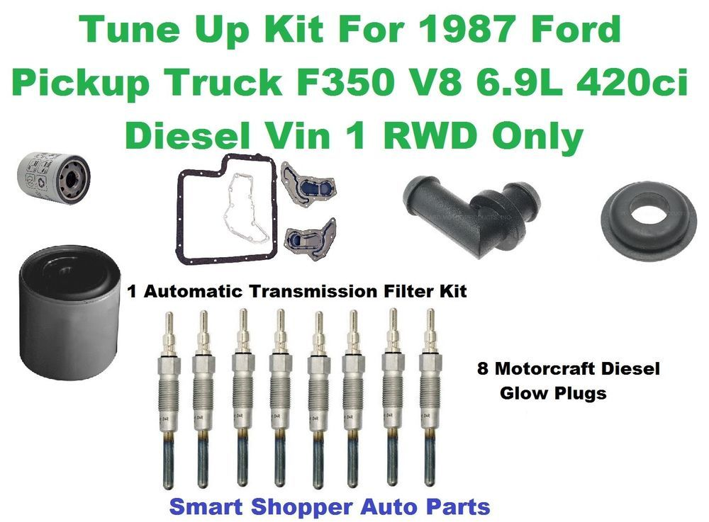 Tune Up Kit For 1987 Ford Truck F350 V8 6 9l Diesel Rwd Spark Plug Oil Filter Ford Truck Spark Plug Oil Filter