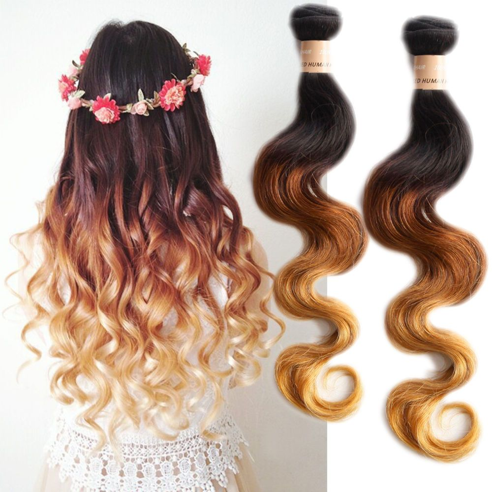 1b33 27 Lowest Price Ombre Body Wave High Quality Human Hair