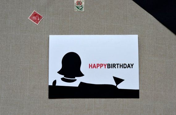 Mad Men Birthday Card  Party Like Mad  35S by CDesignIllustration, $4.00