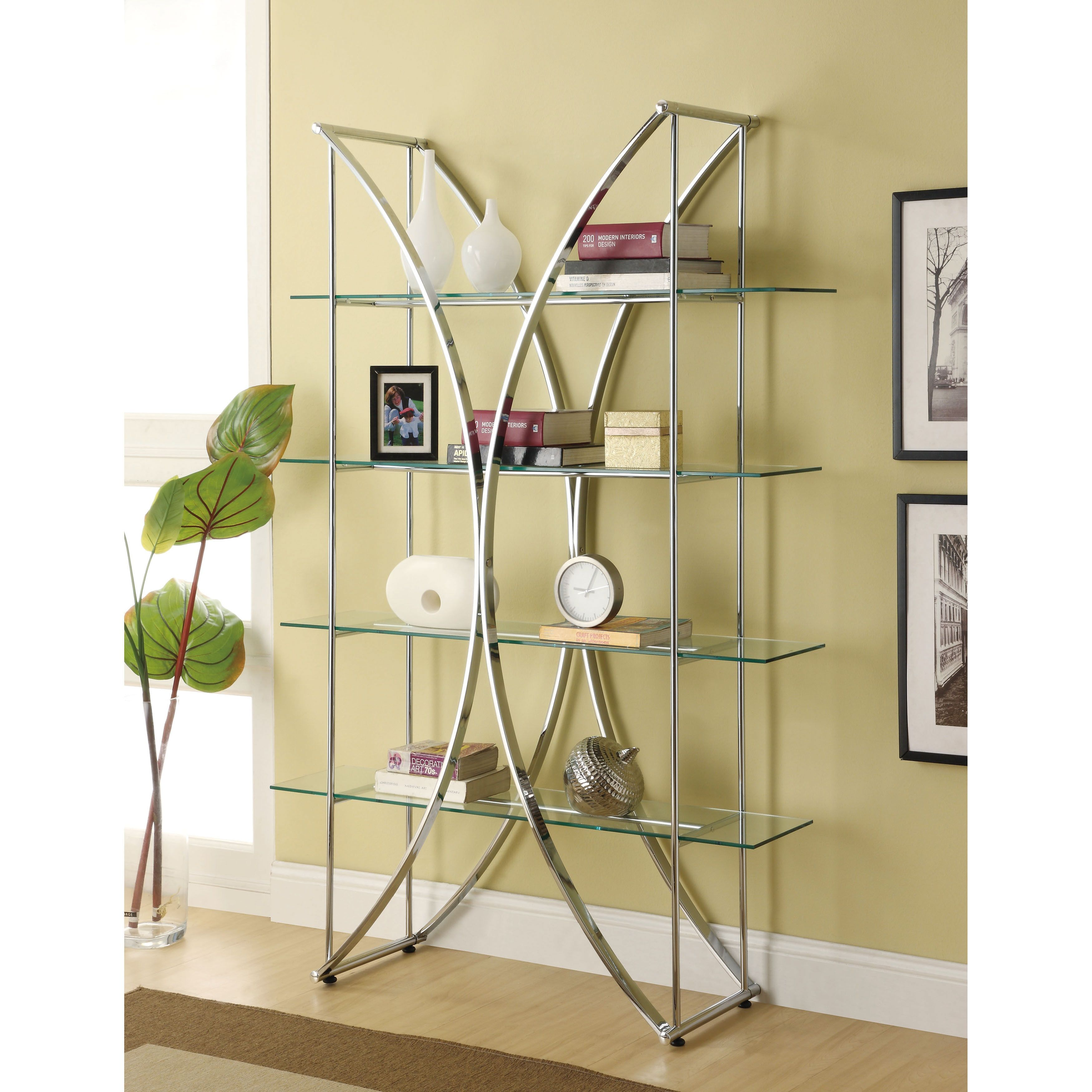 interior century modern legs lovely mid awesome for insight rectangle design with bookshelf furniture home your of bookcase chrome