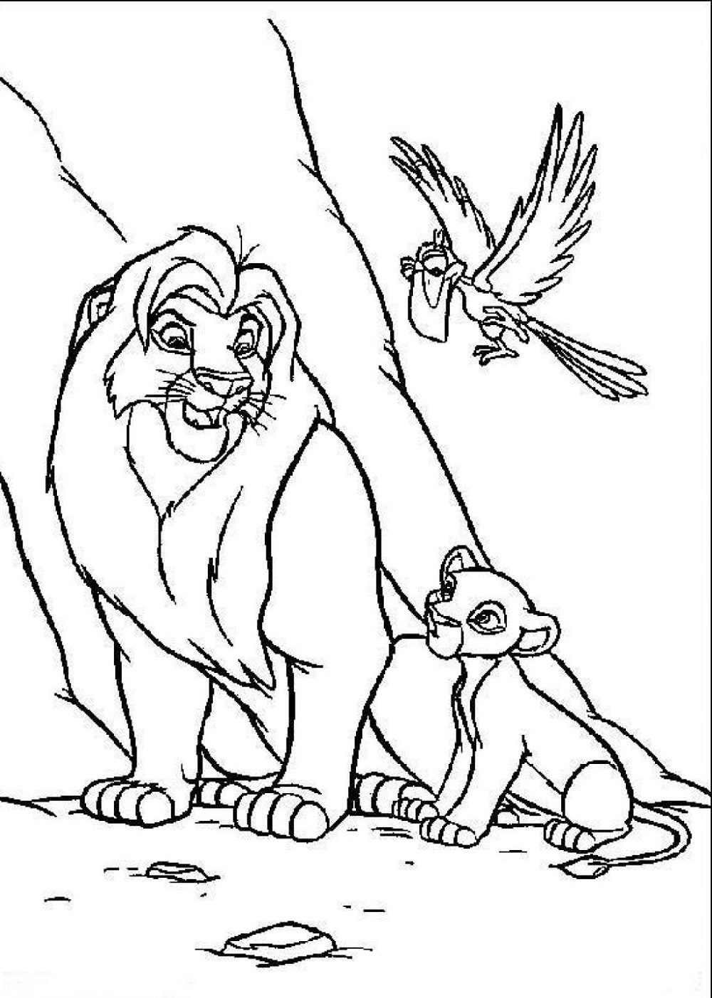 - Lion King Cartoon Coloring Pages K5 Worksheets Lion Coloring