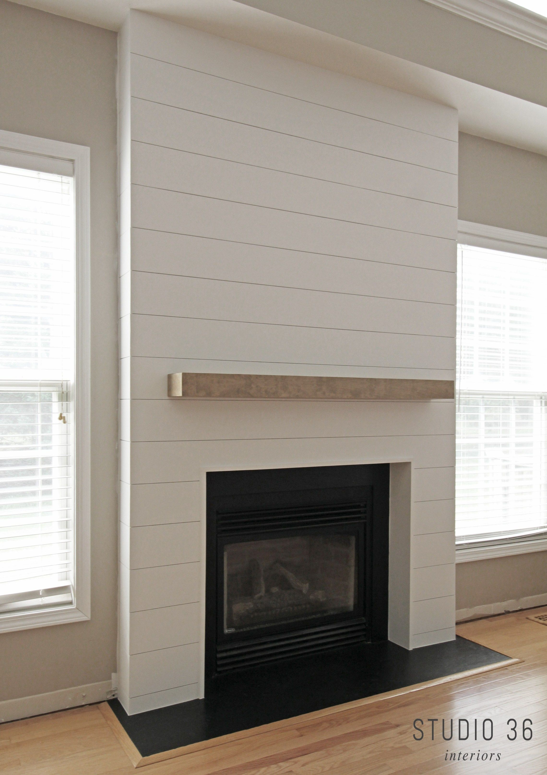 My Fireplace Gets A Whole New Look Diy Shiplap Fireplace