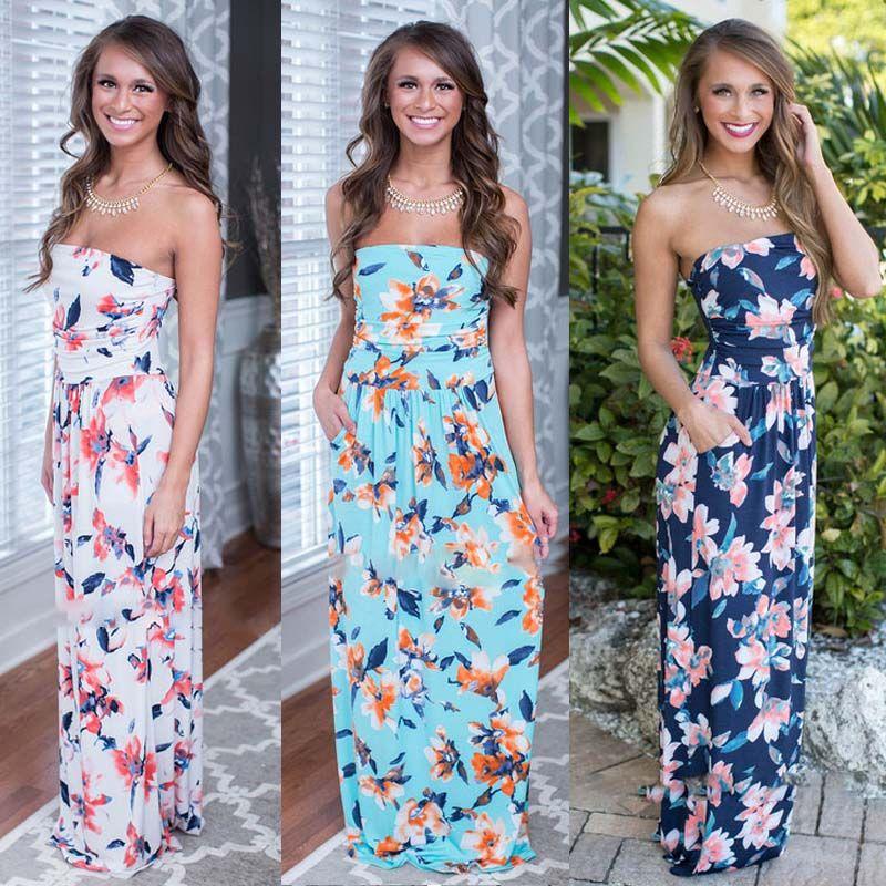 Vestidos largos para fiesta hawaiana