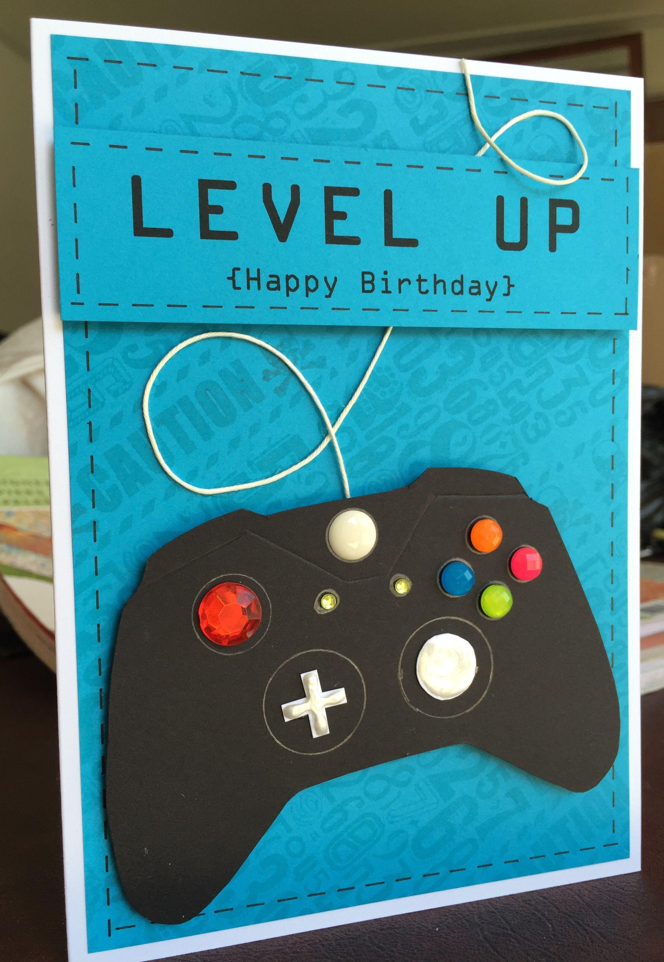 Birthday Card For Video Gamer Jacob September 2016