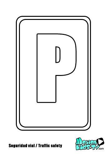 Colorear pintas seales trafico seal parking recursos seguridad