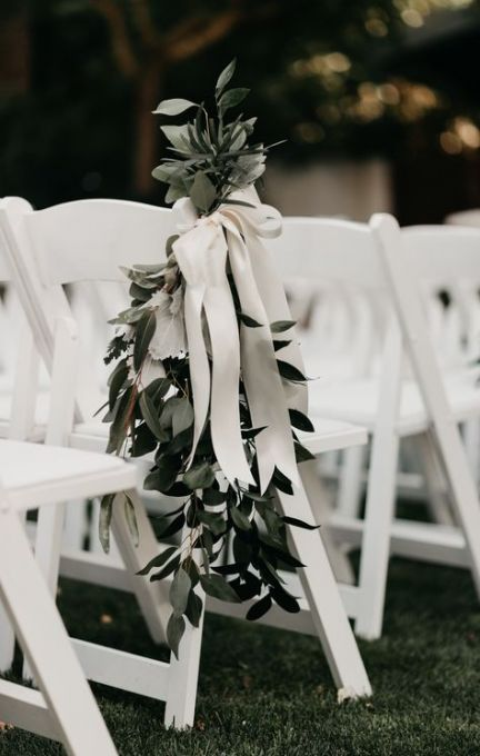 51 Ideas Wedding Flowers Ceremony Outdoor Chairs