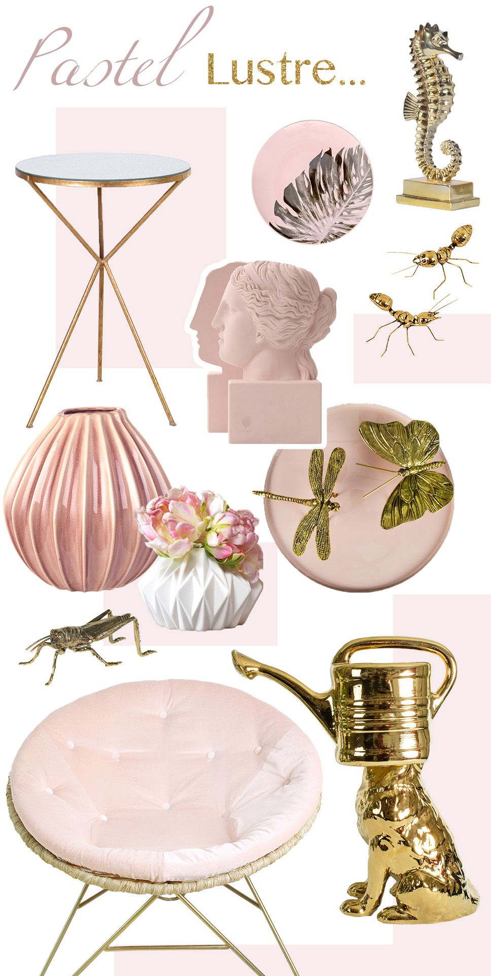 Trend Alert Pastel Lustre is part of Home Accessories Styling Colour - Blush is officially one of the season's hottest colours, so we've put together a mood board for you to get the feel for the pastel lustre trend