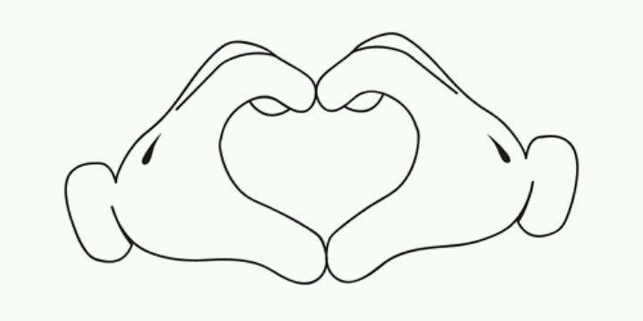 vinyl sticker wall decal tattoo car mickey mouse hands love heart glove minie :