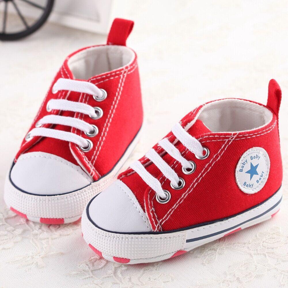 fc763d9701005 Baby canvas shoes brand newborn baby girls boys sports sneakers infant  newborn prewalker