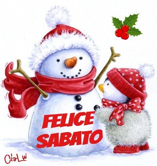 Buon Sabato Arte Natalizia Illustrazione Di Natale E