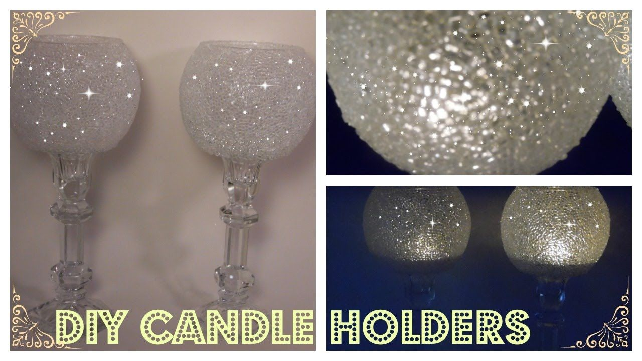 Diy frosted candle holders elegant candle holders dollar tree