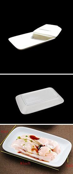 Oblong Dinner Plates. 8-inch Porcelain Serving Platter/Rectangular PlatesNatural White & Oblong Dinner Plates. 8-inch Porcelain Serving Platter/Rectangular ...