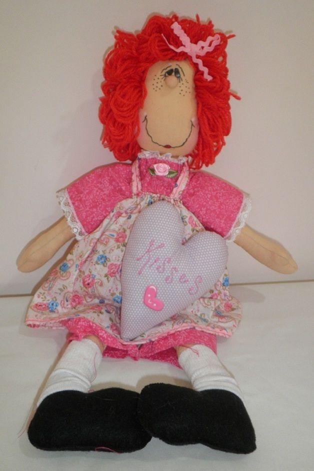 Otros - Muñeca con corazon - hecho a mano por SAGRARIO-CONTRERAS-DE-LA-FUENTE en DaWanda