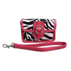 Travelli - pink zebra camera case